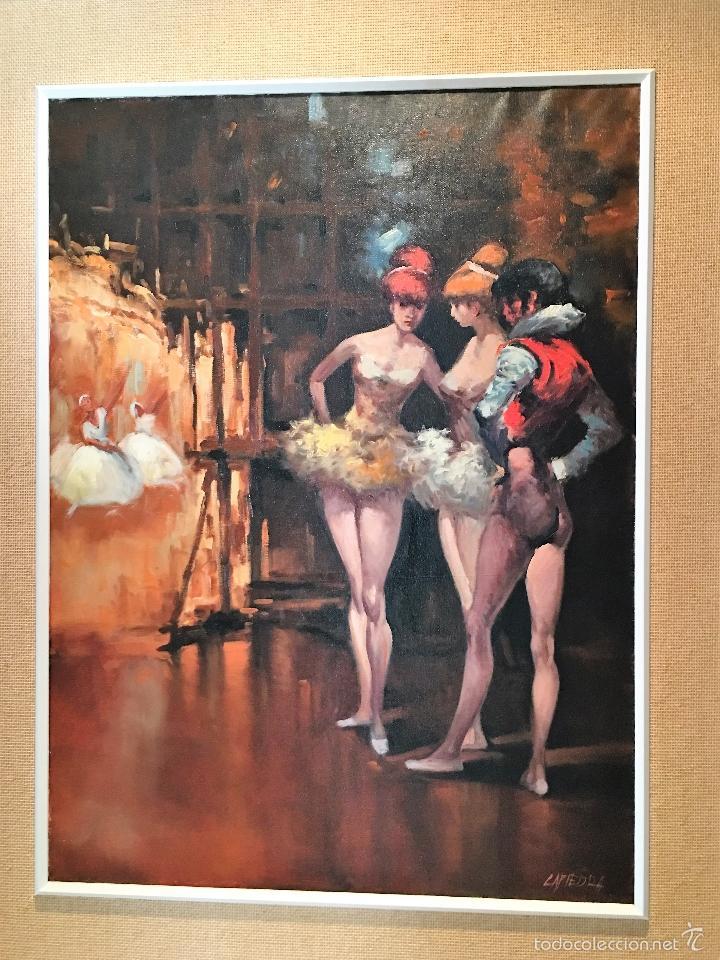 Arte: oleo sobre lienzo BAILARINAS EN DESCANSO - Foto 8 - 57753726