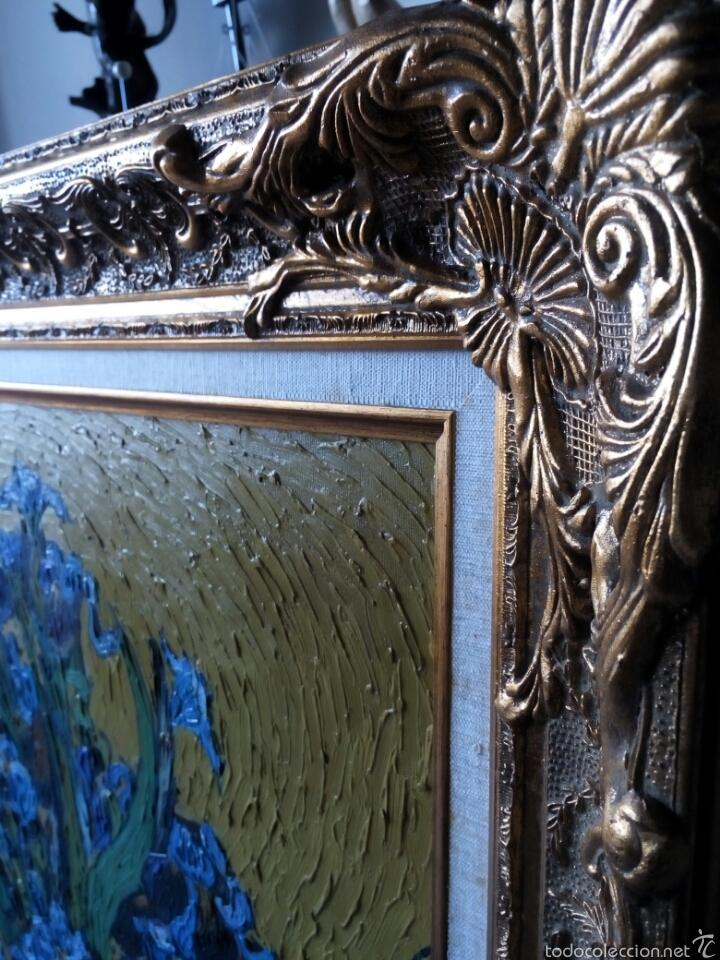 Arte: Cuadro oleo sobre lienzo con gran marco 80x70 - Foto 2 - 60273706