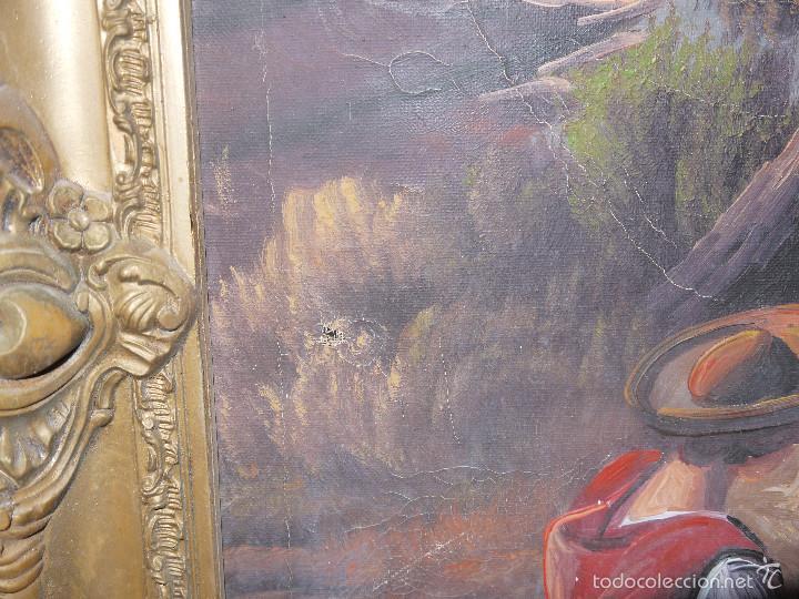 Arte: PINTURA AL OLEO SOBRE LIENZO, FIRMADA POR EL AUTOR, MARCO DE MADERA. - Foto 3 - 221874422