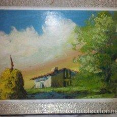 Arte: CUADRO DE PINTURA AL OLEO Y MARCO DE MADERA - MIDE 41X30,5 CM. Lote 60418695