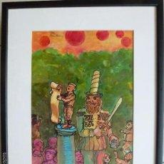 Arte: AGUSTIN PEREZ BELLAS. (VIGO 1925-1982) MIXTA SOBRE PAPEL.. Lote 60573895