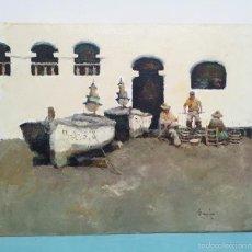 Arte: RAMON POVEDA IBARZ , OLEO SOBRE TABLA CON CERTIFICADO. Lote 60622319