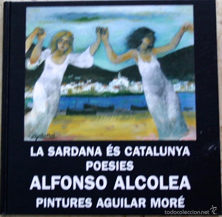 Arte: AGUILAR MORÉ, Óleo y Técnica mixta s/papel, 20 x 28 cm, c/m 33,5 x 47,1 , + libro y foto firmada - Foto 2 - 60671483