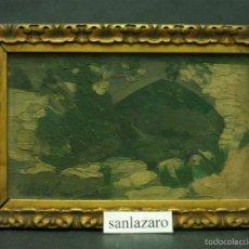 Arte: PINTURA AL ÓLEO SOBRE MADERA FIRMADO POR: J. GONZALES 1999 - 8,7 X 5,2 CM CD136*. Lote 60745015