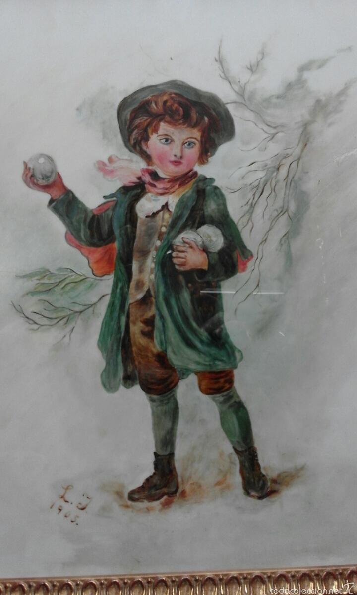 LINDA OPALINA PINTADA FIRMADA (Arte - Pintura - Pintura al Óleo Antigua sin fecha definida)