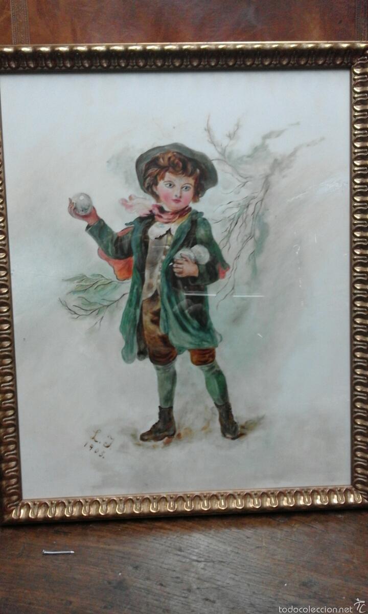 Arte: Linda opalina pintada firmada - Foto 2 - 60834862