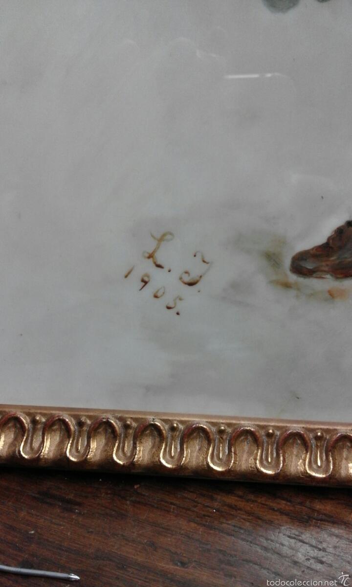 Arte: Linda opalina pintada firmada - Foto 3 - 60834862