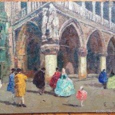 Arte: ERMA ZAGO (1880-1942) ITALIANO - ÓLEO SOBRE MADERA - VENECIA. Lote 60854799