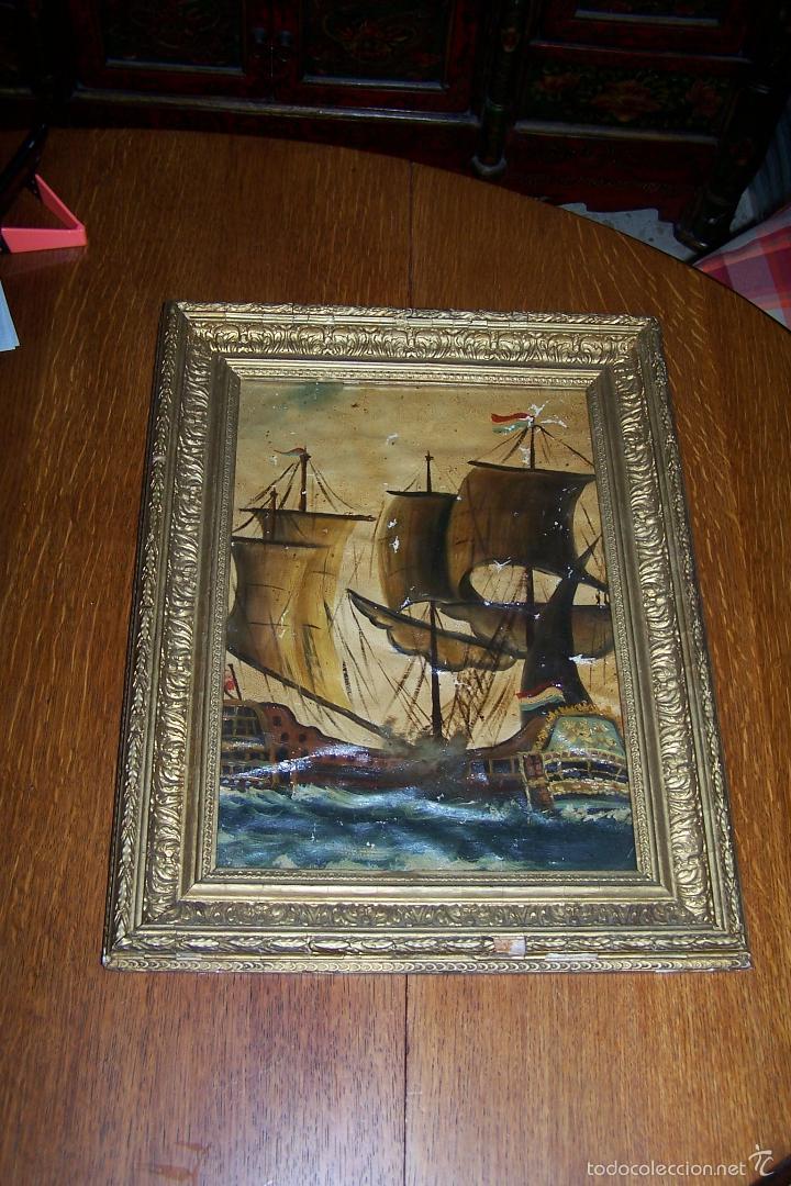 oleo enmarcado con cristal. pintura mide 30 por - Comprar Pintura al ...