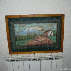 Arte: OLEO SOBRE ARPILLERA - NAIF - ANÓNIMO - ECUADOR. Lote 61011339