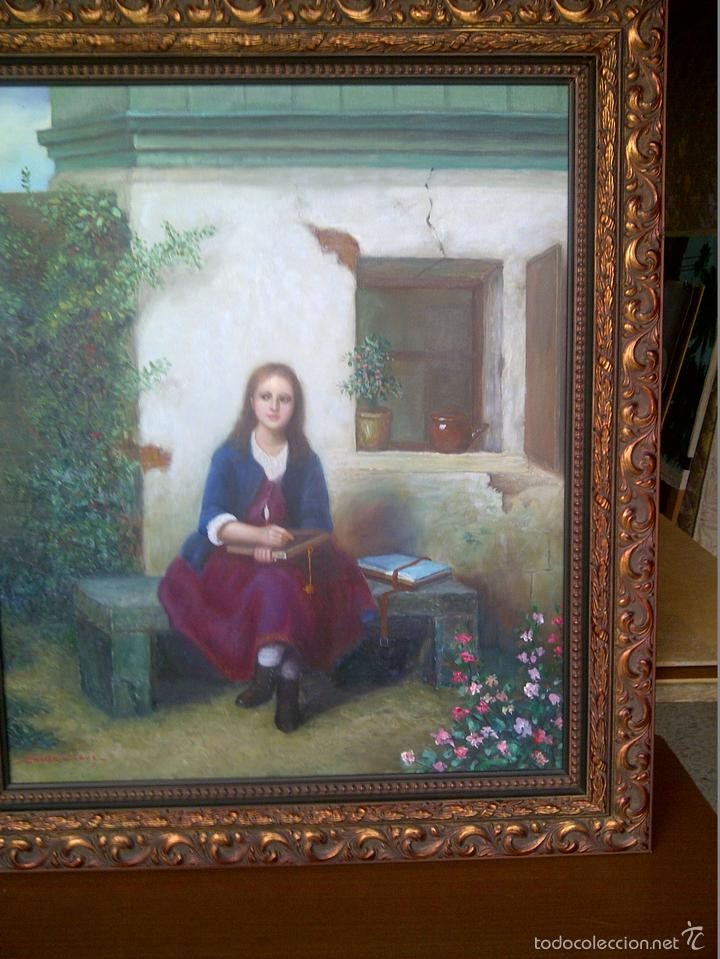 COLEGIALA CAMPESINA,DE EMILE CLAUS. (Arte - Pintura - Pintura al Óleo Moderna sin fecha definida)