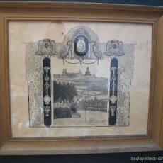 Arte: CULLERA 1924 DIBUJO ORIGINAL PINTADO MARCO MODERNISTA CASTILLO CALVARIO MERCADO M.GORDÓ BURJASOT. Lote 61155447