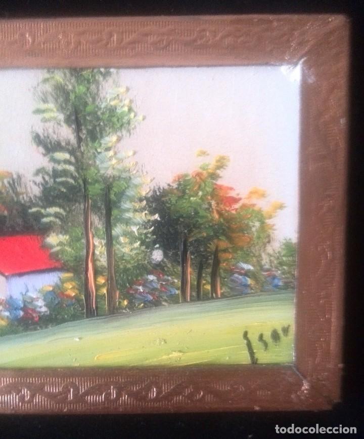 Arte: Dos óleos sobre tabla de paisajes. Firmados. Miniaturas - Foto 2 - 61441263