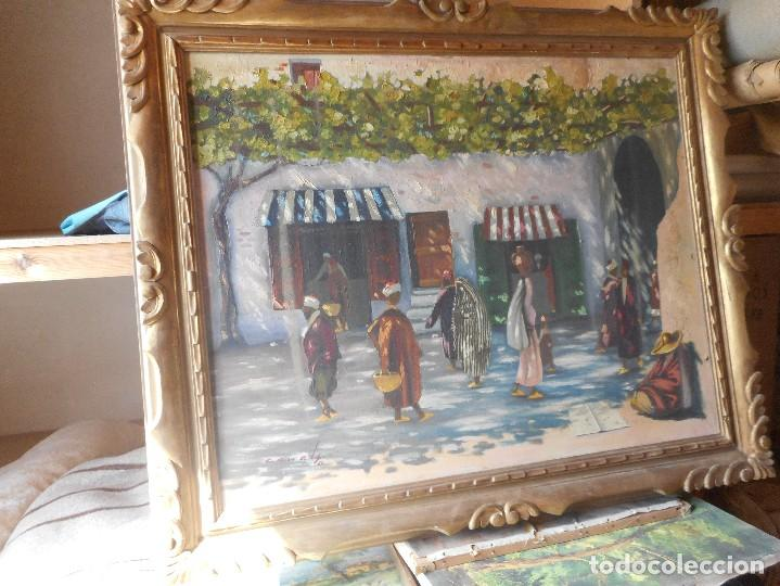 OLEO SOBRE TELA EN MAGNIFICO MARCO MADERA FIRMADO CANALS (Arte - Pintura - Pintura al Óleo Moderna sin fecha definida)