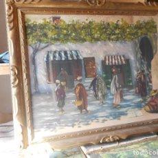 Arte: OLEO SOBRE TELA EN MAGNIFICO MARCO MADERA FIRMADO CANALS. Lote 61476547