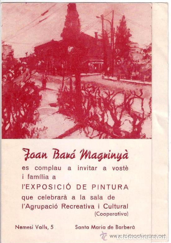 Arte: Autoretrato JOAN BARÓ MAGRINYÁ. TERRASSA. AÑOS 1950'S - Foto 4 - 61541472