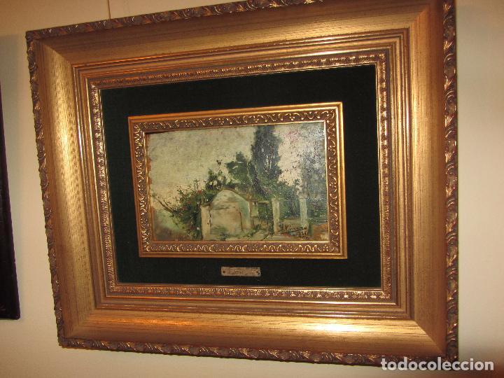 ÓLEO SOBRE TABLA IGNACIO PINAZO CAMARLENCH 1881 CON CERTIFICADO - LEER DESCRIPCIÓN - (Arte - Pintura - Pintura al Óleo Moderna siglo XIX)