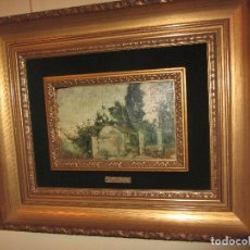 Arte: ÓLEO SOBRE TABLA IGNACIO PINAZO CAMARLENCH 1881 CON CERTIFICADO - LEER DESCRIPCIÓN -. Lote 50096804