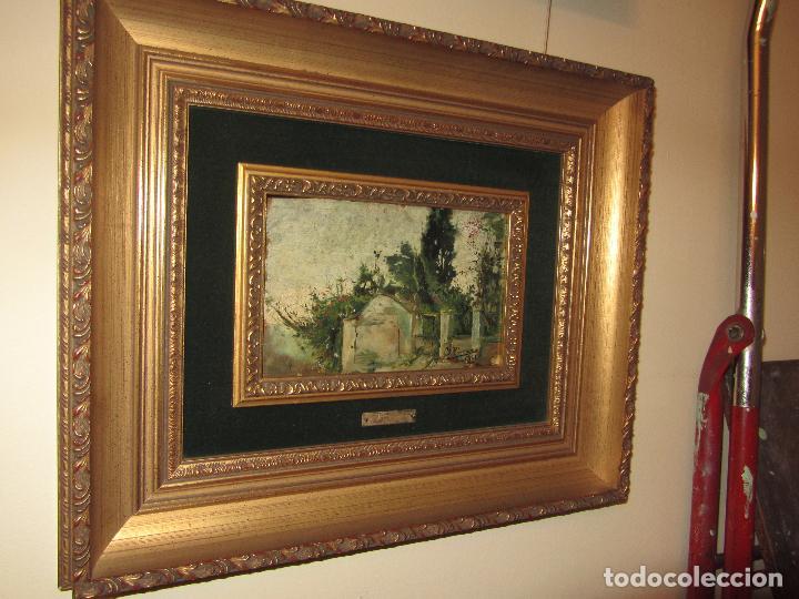 Arte: Óleo Sobre Tabla Ignacio Pinazo Camarlench 1881 CON CERTIFICADO - Leer Descripción - - Foto 7 - 50096804