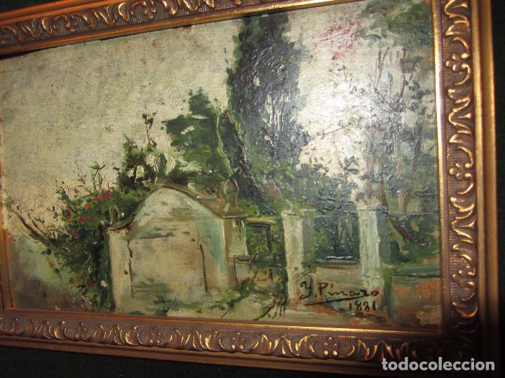 Arte: Óleo Sobre Tabla Ignacio Pinazo Camarlench 1881 CON CERTIFICADO - Leer Descripción - - Foto 9 - 50096804