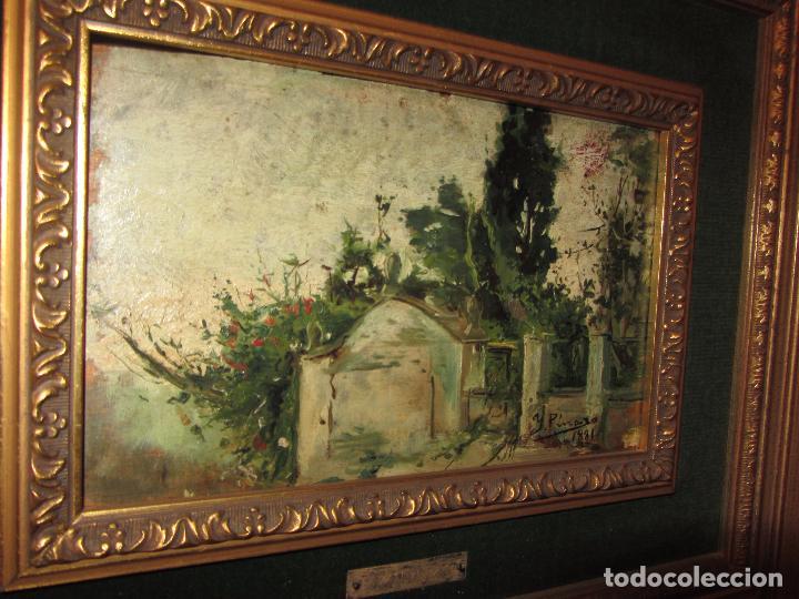 Arte: Óleo Sobre Tabla Ignacio Pinazo Camarlench 1881 CON CERTIFICADO - Leer Descripción - - Foto 10 - 50096804