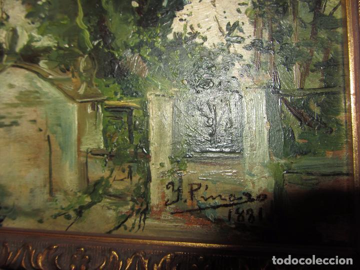 Arte: Óleo Sobre Tabla Ignacio Pinazo Camarlench 1881 CON CERTIFICADO - Leer Descripción - - Foto 11 - 50096804