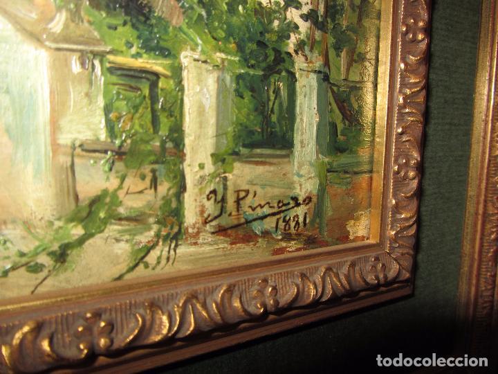 Arte: Óleo Sobre Tabla Ignacio Pinazo Camarlench 1881 CON CERTIFICADO - Leer Descripción - - Foto 12 - 50096804