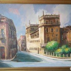 Arte: GRAN OLEO SOBRE TABLA 100X80CM, ESCUELA VALENCIANA.. Lote 61568126
