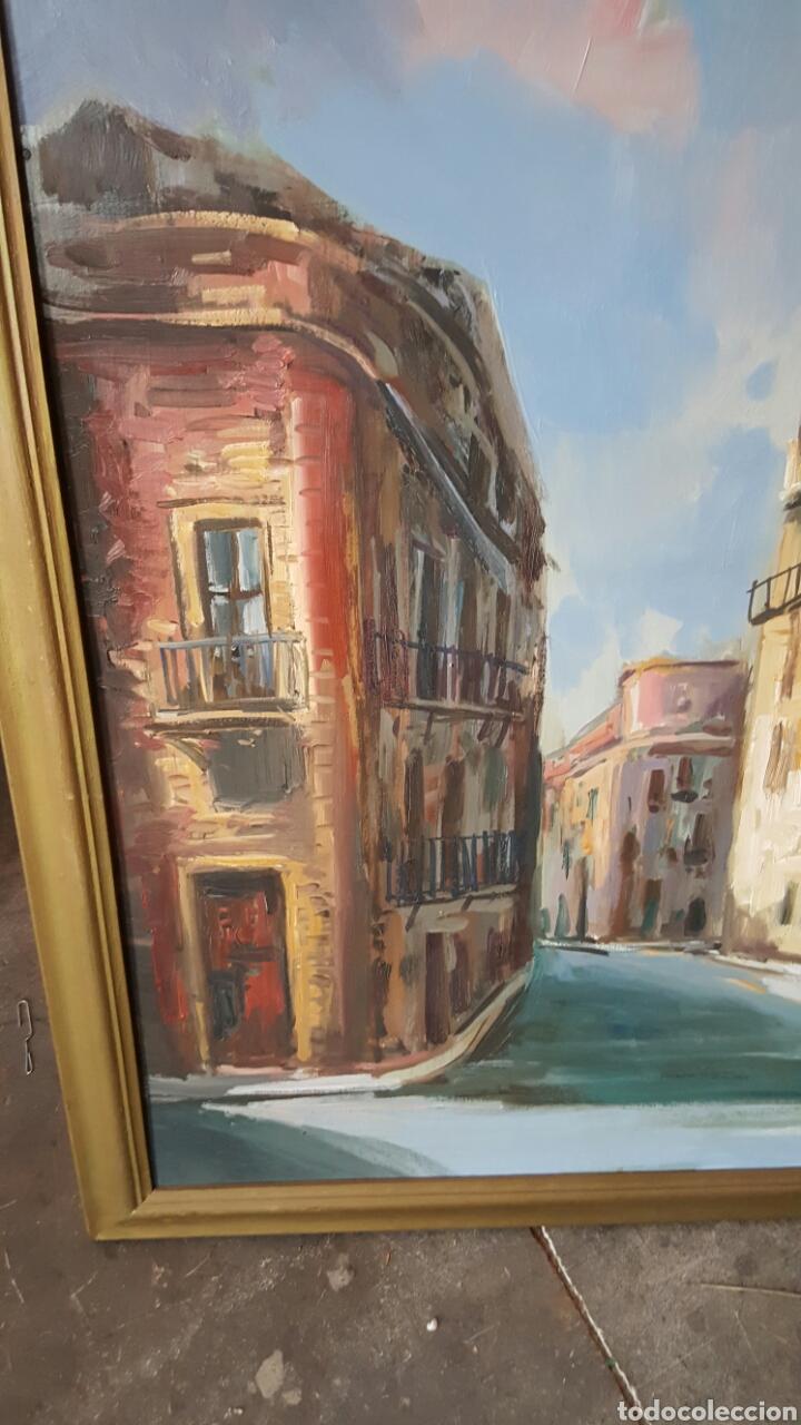 Arte: Gran oleo sobre tabla 100x80cm, ESCUELA VALENCIANA. - Foto 3 - 61568126