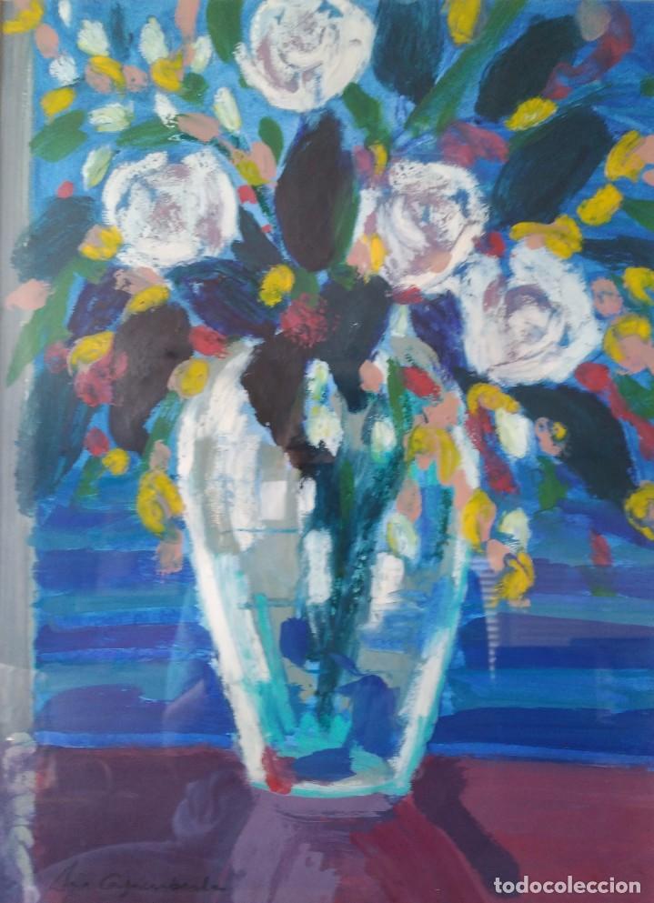 MONTSERRAT CASACUBERTA. TÉCNICA MIXTA SOBRE MADERA. FIRMADA. FECHADA EN 1993 (Arte - Pintura - Pintura al Óleo Contemporánea )
