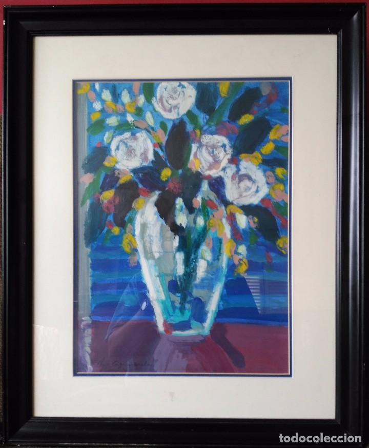 Arte: MONTSERRAT CASACUBERTA. TÉCNICA MIXTA SOBRE MADERA. FIRMADA. FECHADA EN 1993 - Foto 2 - 61671004