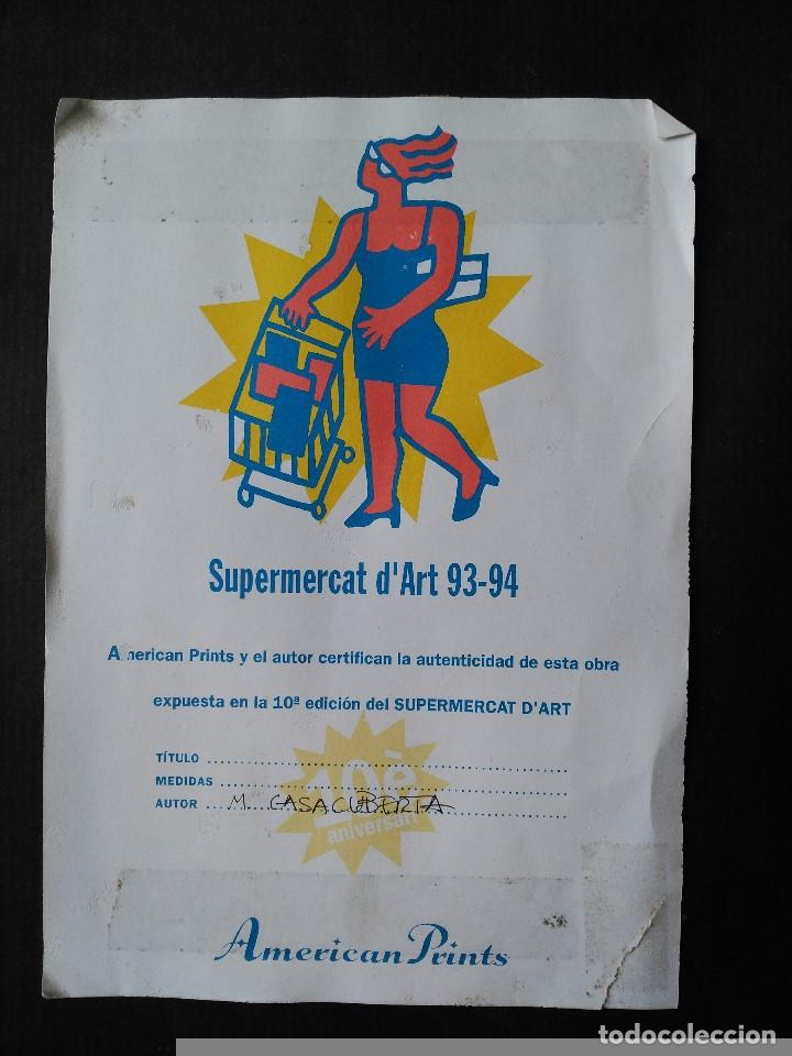 Arte: MONTSERRAT CASACUBERTA. TÉCNICA MIXTA SOBRE MADERA. FIRMADA. FECHADA EN 1993 - Foto 7 - 61671004