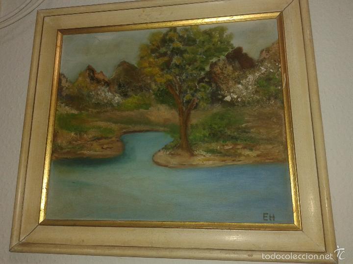 PINTURA AL OLEO PAISAJE FINALES SIGLO XIX (Arte - Pintura - Pintura al Óleo Moderna siglo XIX)