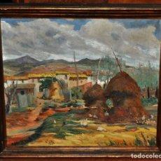 Arte: EUSEBIO DIAZ COSTA (OIX, GERONA, 1908-1964) OLEO TELA DEL AÑO 1933. BARCELONA. Lote 61723284