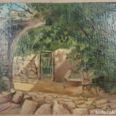 Arte: N5-136. PUENTE DE PIEDRA. ÓLEO SOBRE LIENZO. JAUME BELLMUNT. SIGLO XIX. . Lote 61733128