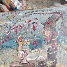 Arte: ÓLEO TABLA ABSTRACTO EL COMEDOR DE ÁCIDO, ANÓNIMO 33CMX25CM. Lote 61809487