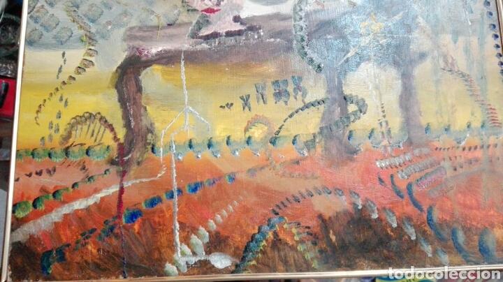 Arte: Óleo tabla abstracto el comedor de ácido, anónimo 33cmx25cm - Foto 3 - 61809487