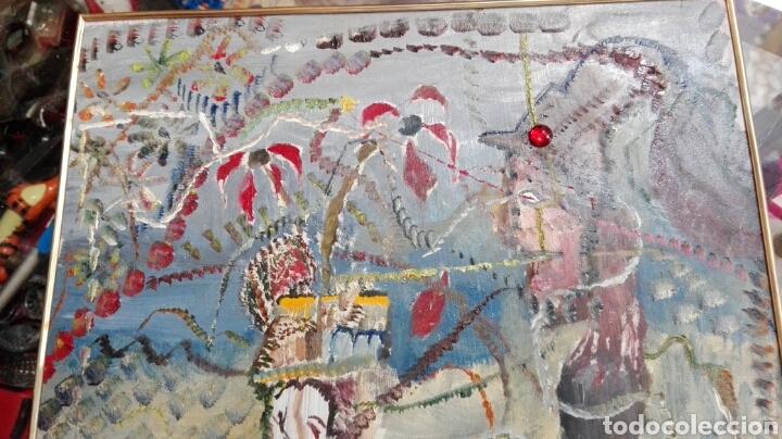 Arte: Óleo tabla abstracto el comedor de ácido, anónimo 33cmx25cm - Foto 4 - 61809487