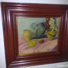 Arte: ÓLEO SOBRE TABLA 30X40 CM (BODEGÓN). Lote 61846708