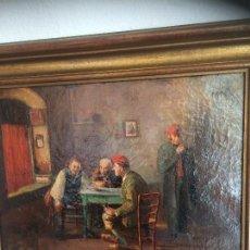 Arte: ÓLEO ESCUELA CATALANA S. XIX. R. MARTÍ Y ALSINA. Lote 61989504
