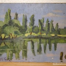 Arte: PAISAJE OLEO SOBRE CARTÓN FECHADO / FIRMADO. Lote 62327024