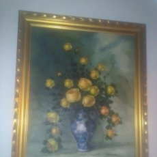 Arte: ÓLEO SOBRE LIENZO (NATURALEZA MUERTA), 93 X 77 CM. Lote 62405752