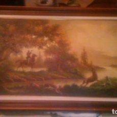 Arte: PRECIOSO OLEO SOBRE LIENZO,CAZA MAYOR,FIRMADO LLORET.. Lote 62461340