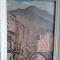 Arte: PINTURA MALLORQUINA- ÓLEO SOBRE TABLA DE RICARDO RAURET 1896. ESCUELA DE ANTONIO RIBAS. Lote 62513300