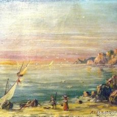 Arte: ALEJO GRAU. PINTOR ARAGONÉS. MARINA.CA. 1930. 37 X 27 CM. OLEO/TELA. BASTIDOR EPOCA. Lote 63124888