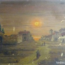 Arte: ALEJO GRAU. PINTOR ARAGONÉS. ATARDECER. CA. 1930. 60 X 45 CM.OLEO/TELA. BASTIDOR EPOCA. Lote 63128064