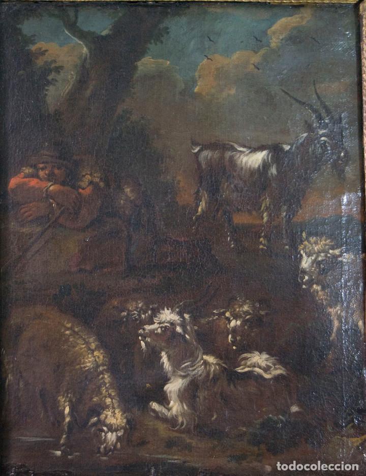 "Arte: Atribuido a ""Rosa de Tivoli"" Roos, Philipp Peter. paisaje con ganado - Foto 2 - 63278432"
