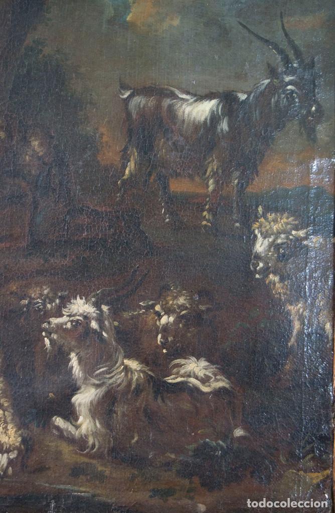 "Arte: Atribuido a ""Rosa de Tivoli"" Roos, Philipp Peter. paisaje con ganado - Foto 3 - 63278432"