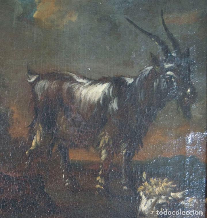 "Arte: Atribuido a ""Rosa de Tivoli"" Roos, Philipp Peter. paisaje con ganado - Foto 6 - 63278432"