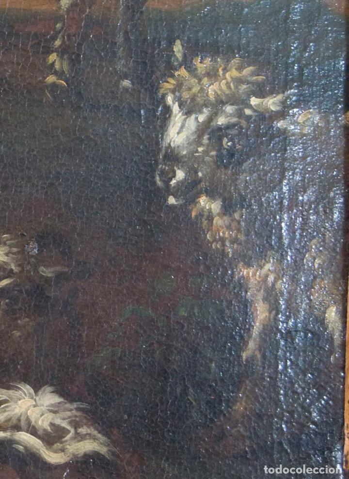 "Arte: Atribuido a ""Rosa de Tivoli"" Roos, Philipp Peter. paisaje con ganado - Foto 7 - 63278432"